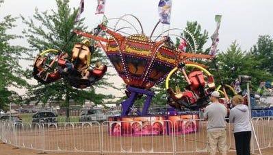 The Tornado ride at the 2014 Wisconsin Valley Fair at Marathon Park in Wausau.