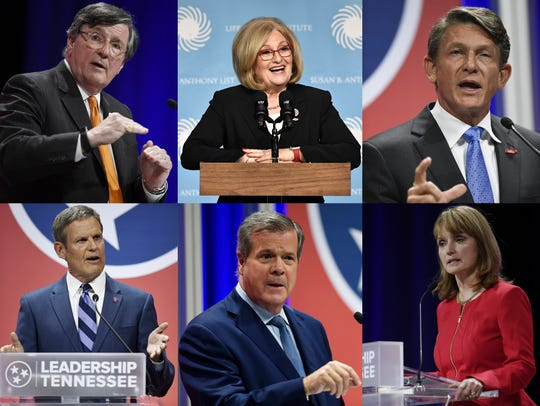 The top-tier candidates for Tennessee governor are,