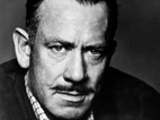 A portrait of John Steinbeck.