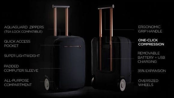 The Marlon carry-on weighs only seven pounds, but can