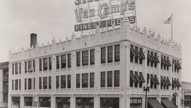 Stokely's Van Camp's building at Meridian and St. Joseph St.  in 1942.  In 1944, Stokely-Van Camp. Inc became the official corporate name.