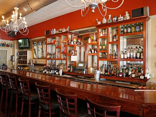 The bar is photographed at Jean-Robert's Table in downtown Cincinnati.