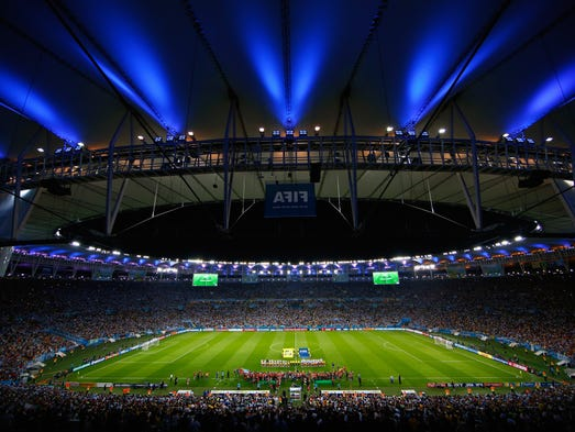 A view of the stadium during the 2014 FIFA World Cup Brazil Group F match between Argentina and Bosnia at Maracana on June 15, 2014 in Rio de Janeiro, Brazil.