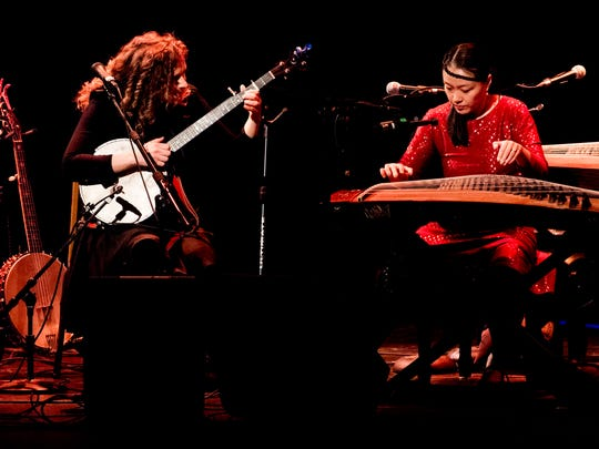 Abigail Washburn & Wu Fei perform at the Bijou Theatre during the Big Ears Festival in Knoxville, Tennessee on Sunday, March 25, 2018.