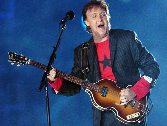British rock legend Paul McCartney perfo