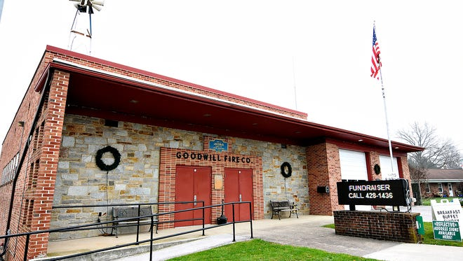 Goodwill Fire Company fire station is shown in Jacobus, Pa. on Wednesday, Dec. 9, 2015. (Dawn J. Sagert - The York Dispatch)