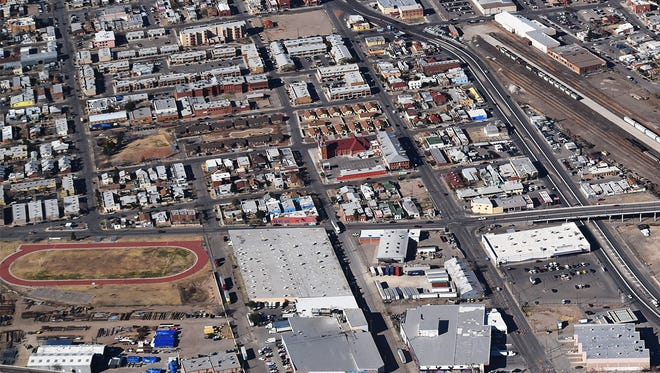 Aerial of south El Paso near Guillen Middle School and surrounding community.