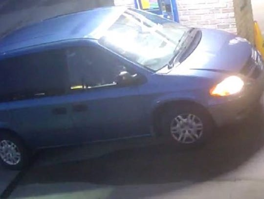 A photo of the other van that police believe the suspect drives.