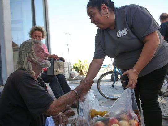 Martina Ochoa with the Coachella Valley Rescue Mission