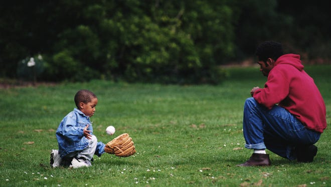 Playing with your child on your time helps develop the child's readiness for organized sports.