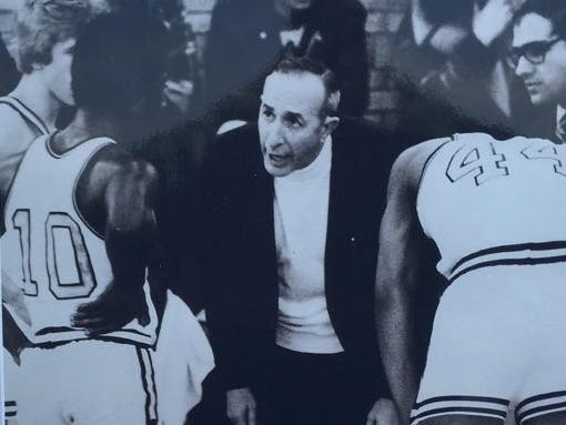 Vito Costanza, here with the Edison basketball team during the 1970s, is a member of the Section V Basketball Hall of Fame.