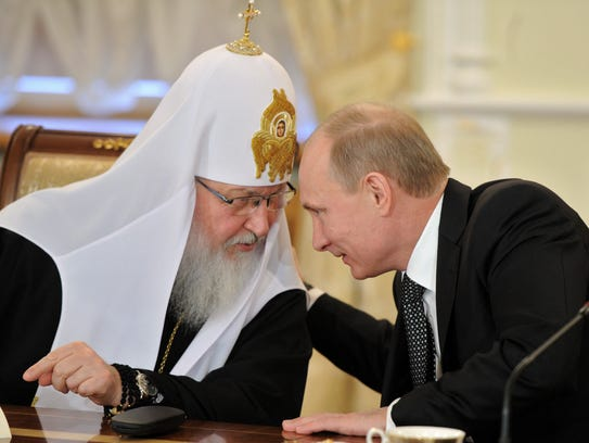 In a 2012 file photo, Russian Orthodox patriarch Kirill