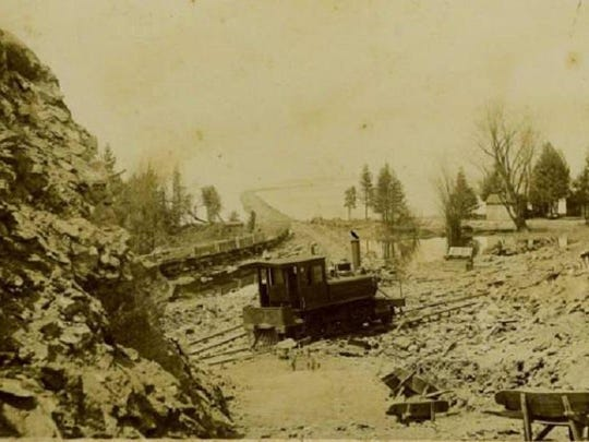 Causeway Construction 1899 at Colchester Point