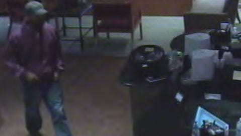 """A photo from surveillance footage of a suspect known as the """"Move Quick Bandit,"""" who is wanted for 11 bank robberies since July, including one in Mt. Juliet in November."""