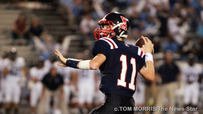 The West Monroe Rebels beat the Barbe Buccaneers 50-14 on Don Shows Field at Rebel Stadium in West Monroe on Friday night.