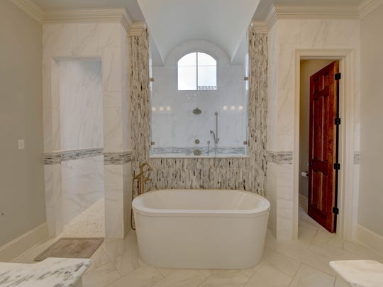 The master bath is a luxury retreat within the home.