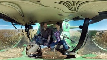 """Illinois corn farmer Justin Durdan decided to """"show and tell"""" in a series of pioneering 360-degree videos, Durdan spent 2016 offering consumers a personal, panoramic view of the season-long action on his family's corn and soybean farm in LaSalle County."""