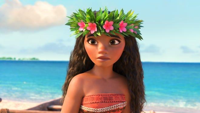 Moana (voiced by Auli'i Cravalho) had brothers in early version of Moana.