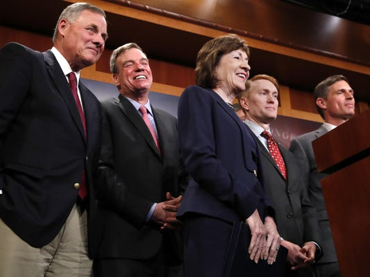 Richard Burr, Mark Warner, Susan Collins, Martin Heinrich, James Lankford