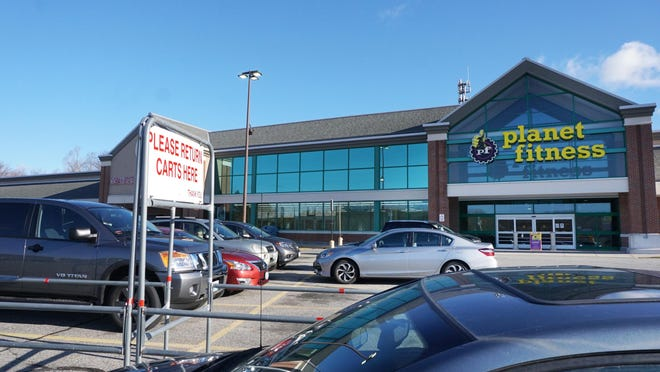 The Planet Fitness in Johnston, which shares a plaza with Ocean State Job Lot.