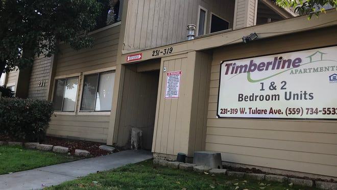 Visalia firefighters responded to a fire at Timberline apartments Thursday morning.