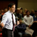 Republican presidential candidate Sen. Marco Rubio, R-Fla., speaks during a campaign rally, Sunday, Jan. 31, 2016, at the University of Northern Iowa in Cedar Falls, Iowa.