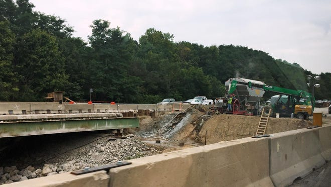 Repairs to the bridge over Wildcat Creek are underway, but three suspects fleeing police crashed their car at the work site late Tuesday. Police release the names of the suspects on Thursday.
