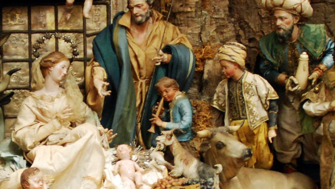 While the birth of Christ is the centerpiece of the Hanley-Gueno Neapolitan Presepio, the scene includes a slice of life of 18th Century Naples.