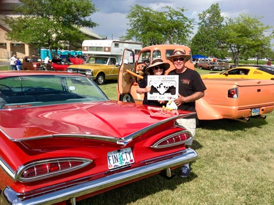 Cece Mosher and her partner Jim Billings recently drove Mosher's 1959 Chevrolet Impala on a 3,054-mile road trip to the 2017 National Impala Convention in South Dakota. They stopped at 25 Chevy dealerships along the way, as well as several classic car shows.