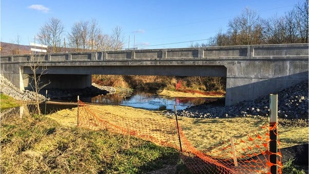 The Fort McCord Road bridge was replaced in the fall.