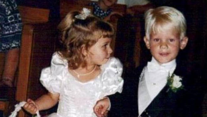 Briggs and Brittany Fussy met in 1995 when they walked down the aisle as flower girl and ring bearer.