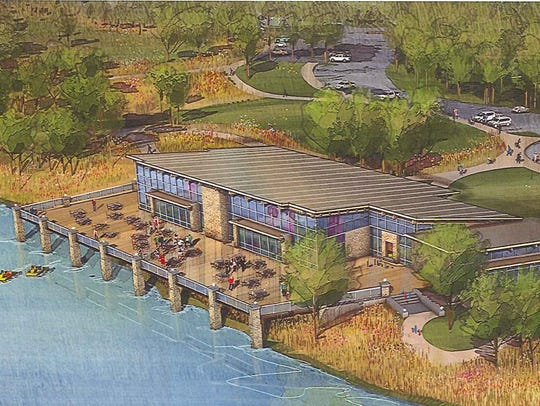 A rendering of proposed lodge at Easter Lake on Des