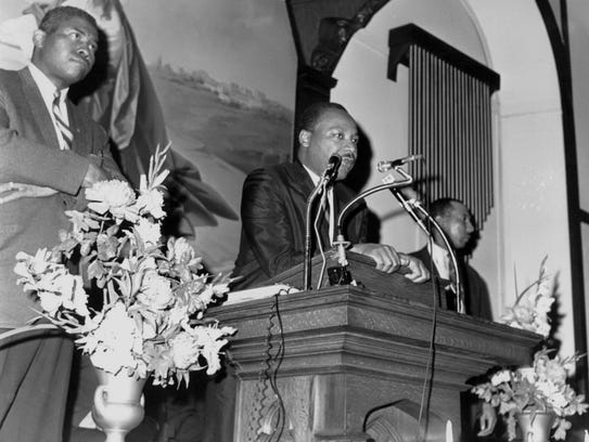 The Rev. Martin Luther King Jr. speaking in Paterson