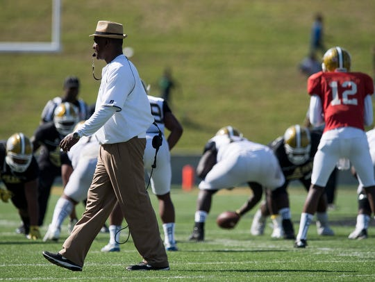 Head Coach Donald Hill-Eley during the Alabama State