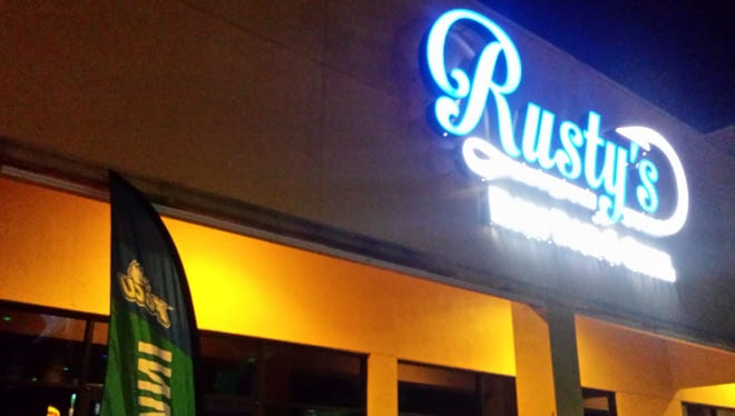 Rusty's Raw Bar and Grill in Estero, Florida, during its FGCU watch party on March 16, 2017.