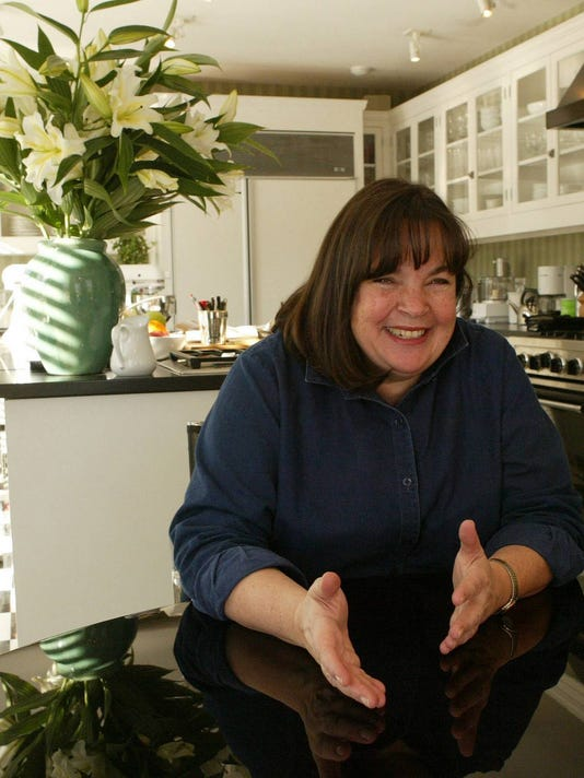 "Ina Garden, star of Food Network's ""The Barefoot Contessa,"" talks in her kitchen.."