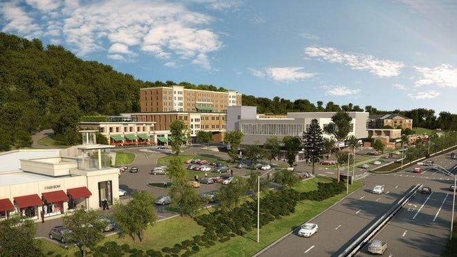 A rendering of Rivertowns Square in Dobbs Ferry, a mixed-use development project expected to be occupied in spring 2016. Rivertowns is one of the developments the Ardsley School Board cited in calling for a moratorium on new development.