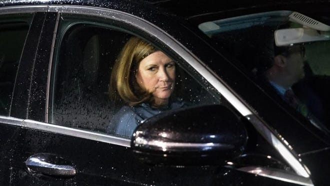 Boca Raton Mayor Susan Haynie leaves the Palm Beach County Jail on April 24, 2018.