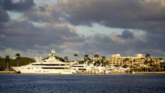 The Australian Dock accommodates large yachts.