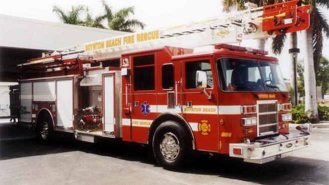 A Boynton Beach Fire Rescue truck.