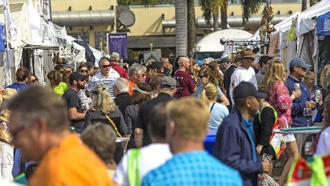 The South Florida Garlic Fest on its opening day in February 2020 at John Prince Park in Lake Worth. Around 30,000 people were expected for the two-day event.