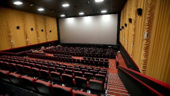 A 400-seat IMAX Theater at Frank Theatres CineBowl & Grille at the Delray Market Place in Delray Beach. As of late Wednesday, it was one of the few movie theaters open in Palm Beach County.
