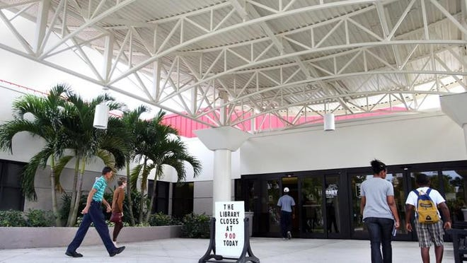 The Palm Beach County Library System's main branch on Summit Boulevard is one of 13 branches that will provide paper unemployment forms.