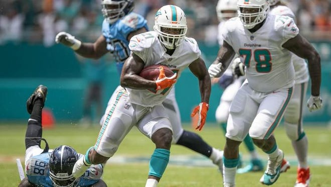 Dolphins running back Frank Gore.