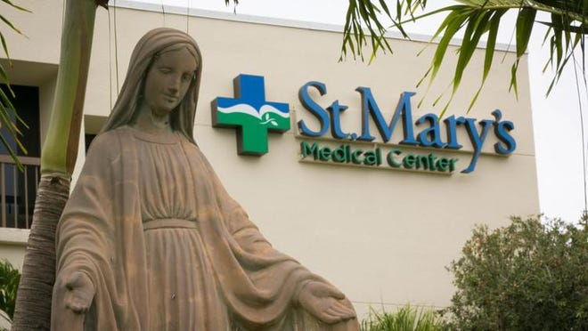 St. Mary's Medical Center in West Palm Beach, one of five Tenet hospitals in Palm Beach County.