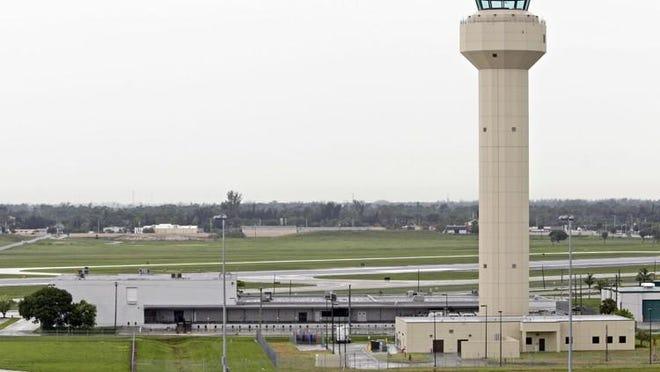 Air traffic control tower at Palm Beach International Airport