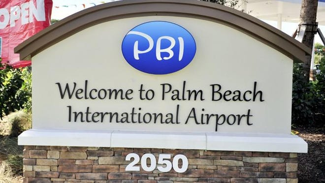 A small plane with an engine out and 10 people on board landed safely at Palm Beach International Airport on Friday afternoon, Palm Beach County Fire Rescue said.