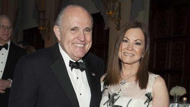 Rudy and Judith Giuliani in happier times at the Preservation Foundation of Palm Beach Dinner Dance in March at The Breakers.
