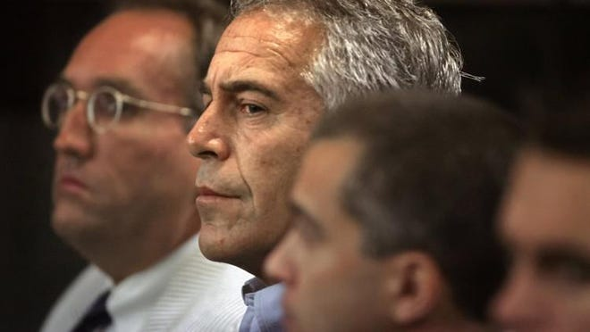 Jeffrey Epstein in Palm Beach County Circuit Court on June 30, 2008. He pleaded guilty to two state prostitution-related charges, one involving a minor.