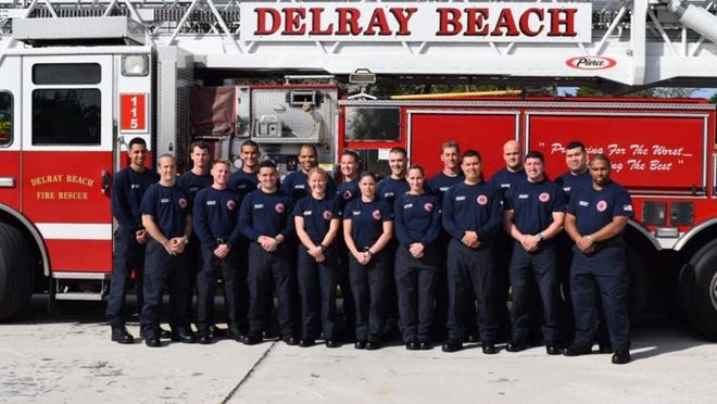 Delray Beach Fire Department rookies in 2016